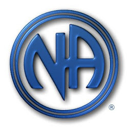 NA logo blue metal